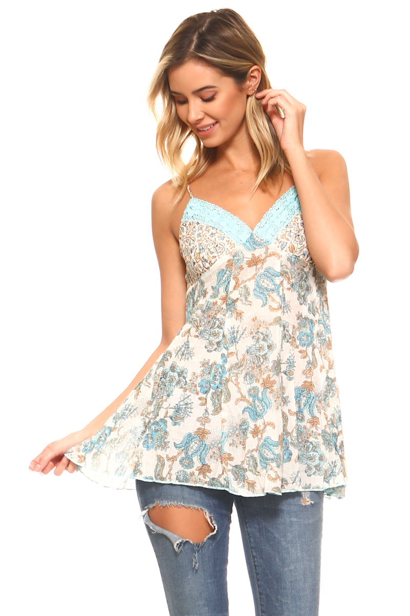 Hazel Sequin Lace Tank Top