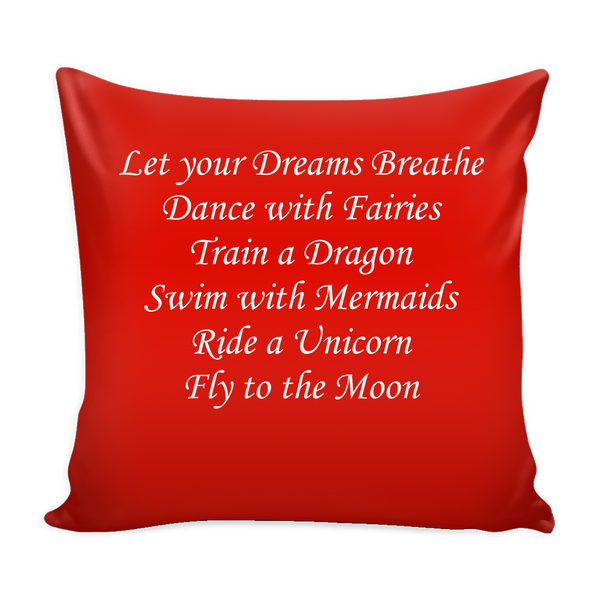 """Let Your Dreams Breathe"" Cushion Covers - Pixie Cove"
