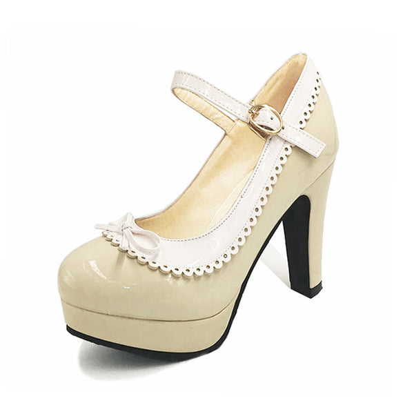 Shona Shoe - Beige with White Detail - Pixie Cove