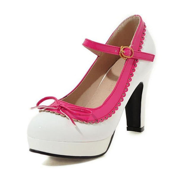 Shona Shoe - White with Pink Detail - Pixie Cove