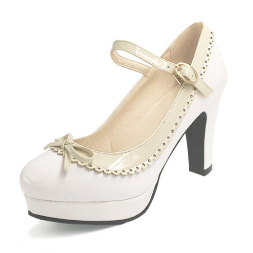 Shona Shoe - White with Beige Detail - Pixie Cove