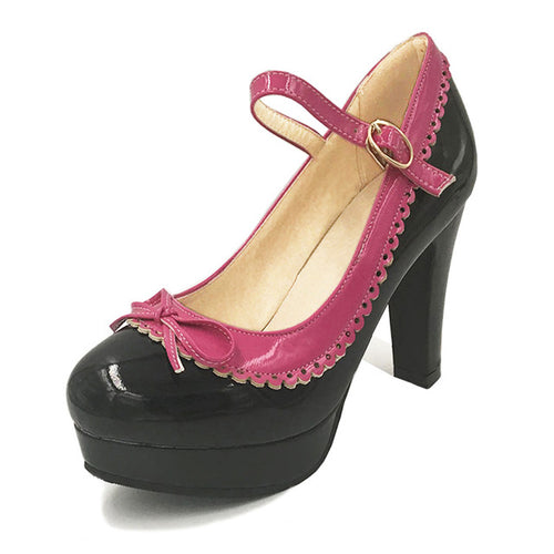 Shona Shoe - Black with Pink Detail - Pixie Cove