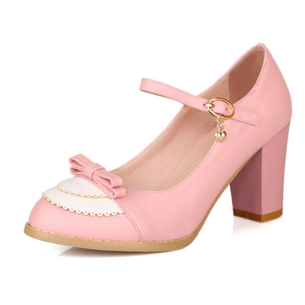 Clara Shoe - Pink with Bow - Pixie Cove