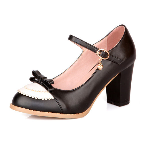 Clara Shoe - Black with Bow - Pixie Cove