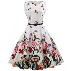 Nimfa Sleeveless Butterfly Swing Dress