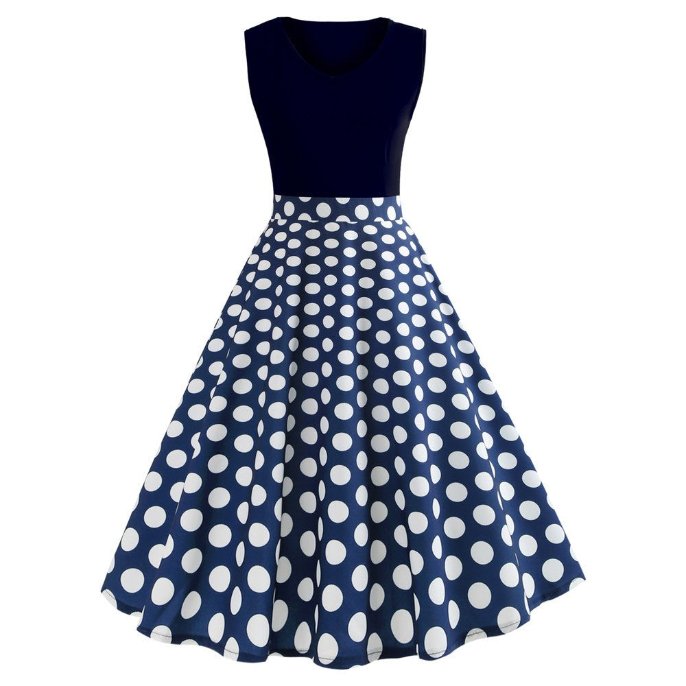 Rita Polka Dot Pleated Dress