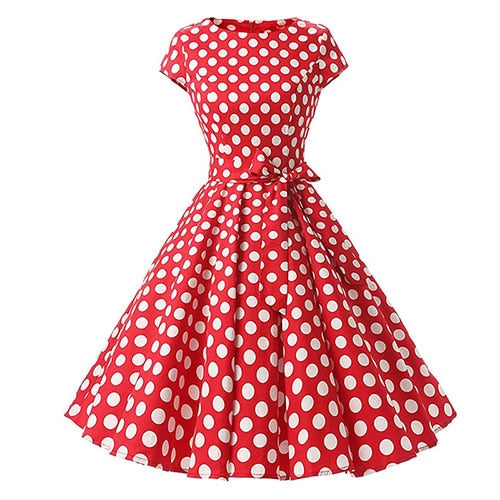 Pollyanna Polka Dot Vintage Swing Dress