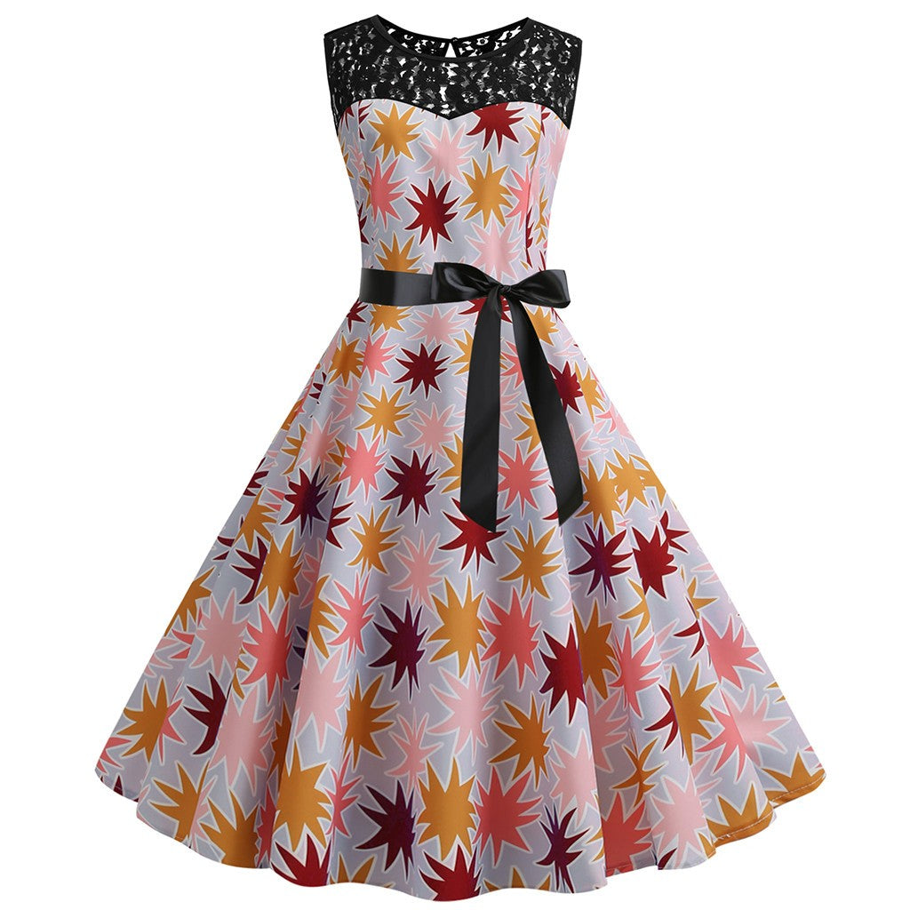 Evie Starry Eyes Swing Dress