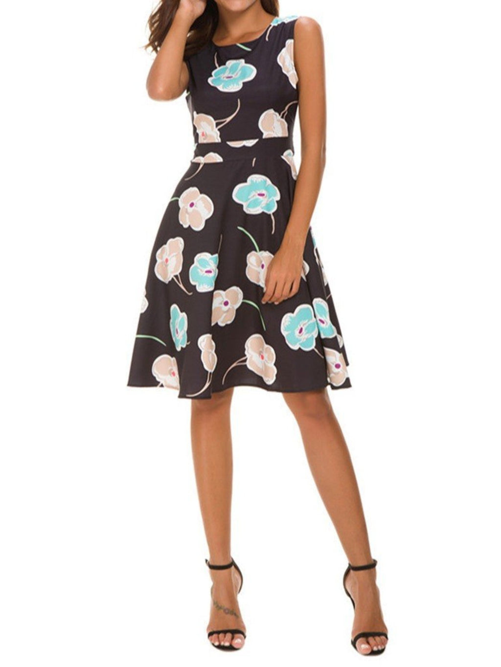 Rayne Floral Print Swing Dress