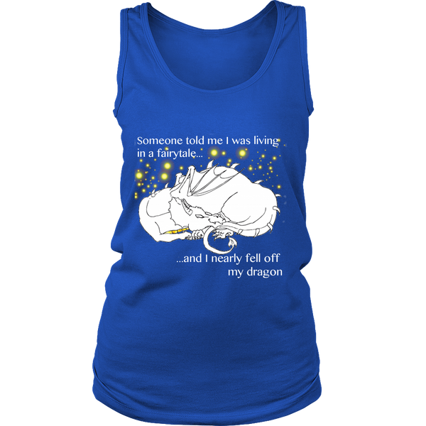 """Falling Off My Dragon"" Tank Top - Pixie Cove"