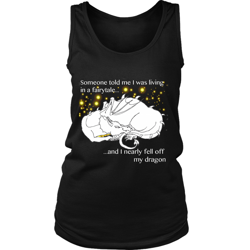 Falling Off My Dragon Tank Top - Women T-shirt | Pixiecove