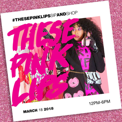 Thesepinklips sip and shop!