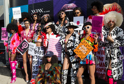 These pinks invades NYFW Black Girl Magic Style!