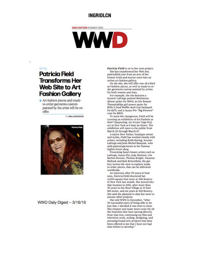 THESEPINKLIPS X WWD X PATRICIA FIELD