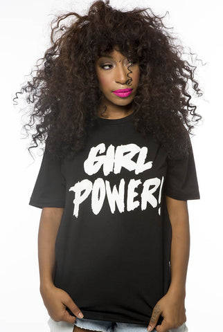 Girl Power tee (black)