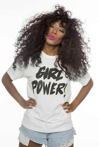 Girl Power tee (white)