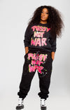 Pussy Not War painted sweatshirt (Black)