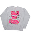 She's The Boss painted sweatshirt