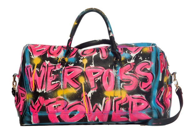 Pussy Power leather duffle bag