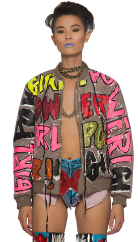 Girl Power bomber jacket