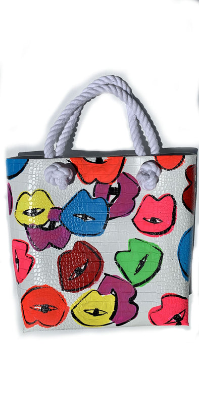 Rainbow kisses tote tote