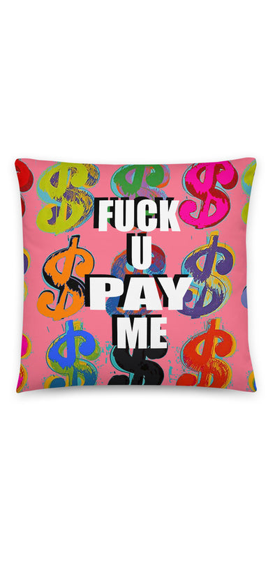 Peach Money $Signs (FUPM) Pillow