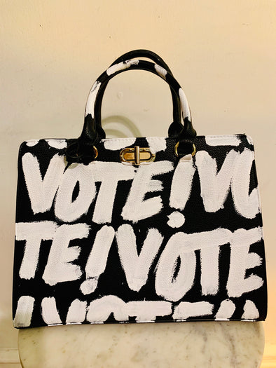 Vote graffiti tote
