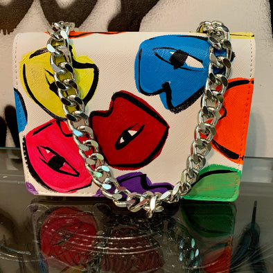 Kiss the rainbow Leash purse