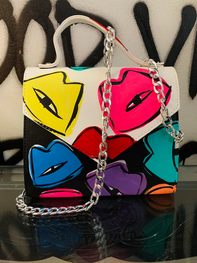 Rainbow kisses purse