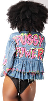 Pussy Power Denim jaclket (One of One)