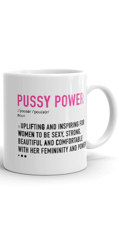 Pussy Power coffee mug