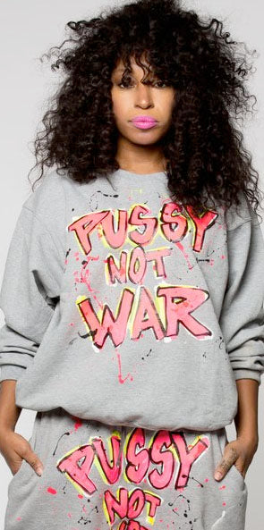 Pussy not war painted crewneck