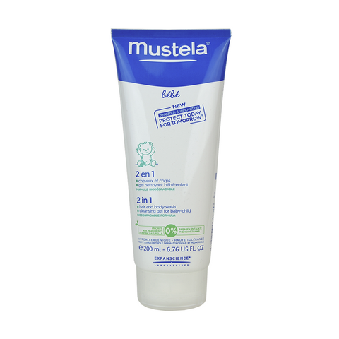 Mustela 2 in 1 Hair and Body Wash 200 ml / 6.76 fl.oz