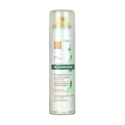 Klorane Dry shampoo with oat milk gentle formula for brown and dark hair Aerosol 150 ml / 3.2 oz