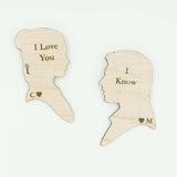 Custom Personalized I love you I know Quote Episode V Refrigerator Magnets Gift Star Wars Gift Leia Hans- Le Petit Pain