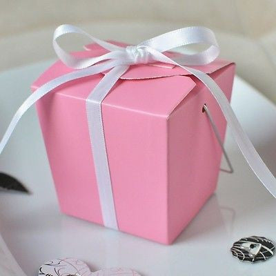 12 Pink Chinese Mini Take Out Boxes Wedding Party Favor Container Supply - le petit pain