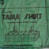 "Premium Plastic Emerald Green Table Skirt 29"" x 14"" Reusable- Le Petit Pain"