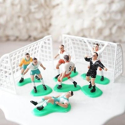 Soccer Team Birthday Cake Topper Players and Goals Cleats Ball