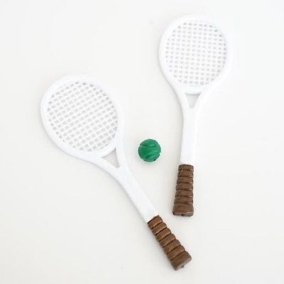 2 Sets of Vintage Tennis Rackets and Tennis Balls Birthday Cake Topper Craft DIY Project - le petit pain