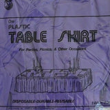 "Premium Plastic Purple Table Skirt 29"" x 14"" Reusable- Le Petit Pain"