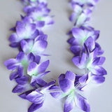 2 Premium Hawaiian Orchid Leis Necklace Various Colors! Wedding Beach Luau Party - le petit pain