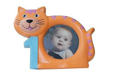 "Orange Tabby Cat 1st Birthday Picture Frame 3""x5"""
