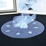 "10 Blue Round Tulle Gift Wrap with Pacifier 9"" Favor Bag Baby Shower"