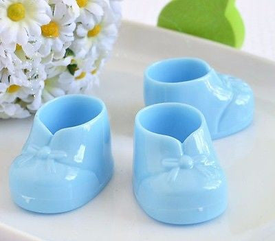 8 Baby Blue Baby Booties Booty Mini Baby Shower Gifts Gender Reveal Favors Decor - le petit pain