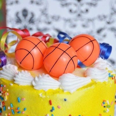 Basketball Cake Topper Set of 6