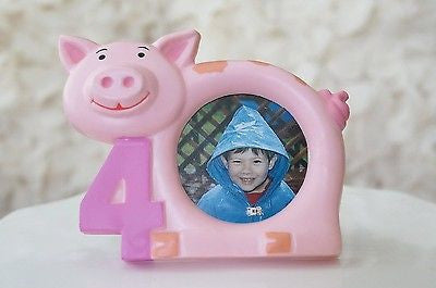 4th Birthday 4 Years Old Little Piggy Pig Picture Frame