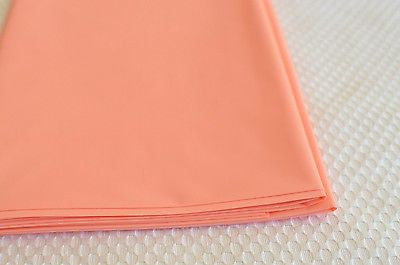 "Premium Plastic Light Peach Table Skirt 29"" x 14"" Reusable- Le Petit Pain"