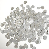 Metallic Silver Tissue Paper Circle Confetti Party Decoration Grey Wedding Favor- Le Petit Pain