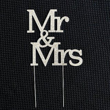 Mr and Mrs 3 Row Crystal Rhinestone Wedding Cake Topper Bride and Groom- Le Petit Pain