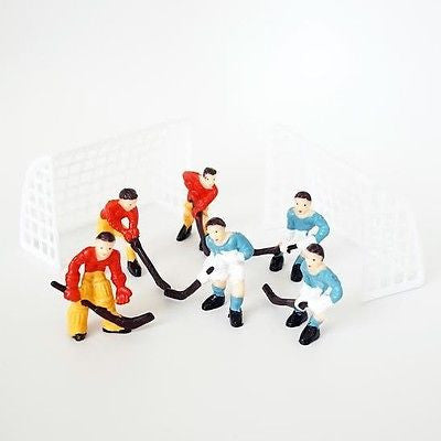 Hockey Team Cake Topper with Goal Nets and 2 Teams DIY Models